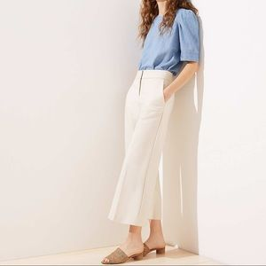 NWT Loft cream wide leg Riviera crop pants 00p